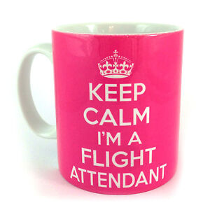 NEW-KEEP-CALM-IM-A-FLIGHT-ATTENDANT-GIFT-MUG-CUP-AND-CARRY-ON-RETRO-BRITANNIA