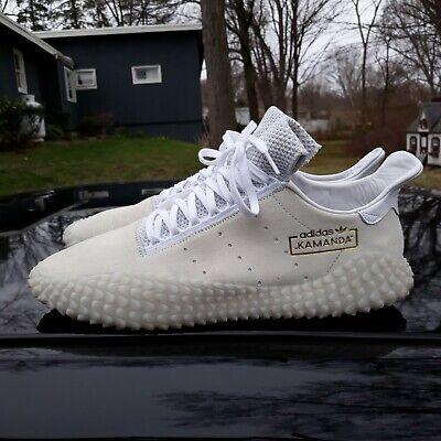 Men's sz 14 Adidas Originals Kamanda 01 Athletic Trainer Shoes - CLEAN