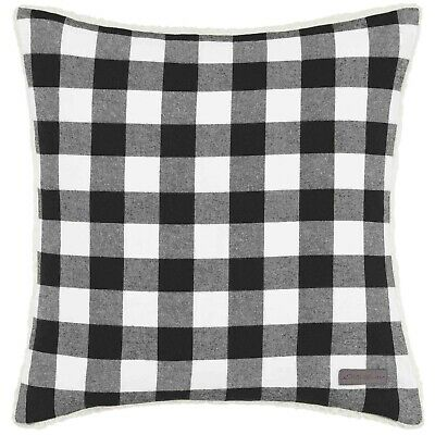 Eddie Bauer Cabin Plaid Black & White Throw Pillow (WP1)