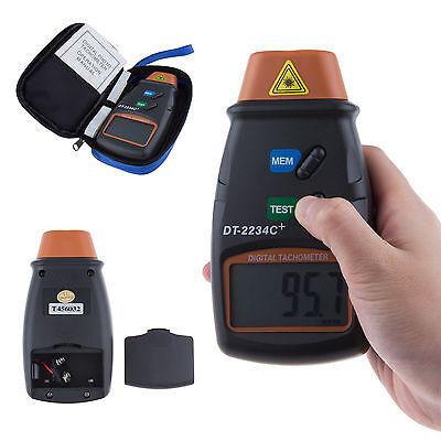 Digital Laser Photo Tachometer Non Contact RPM Tach Meter Motor Speed Gauge hy