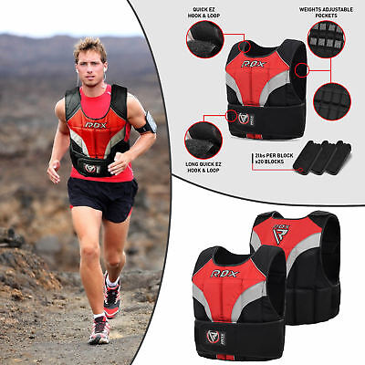 RDX 40LBS Weighted Weight Vest With 20 Removable 2lbs Weight