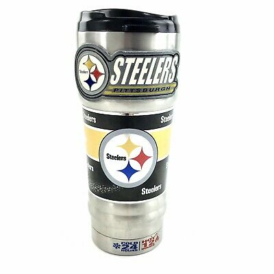 Great American Products NFL Metallic Travel Tumbler, Stainless Steel and Black Great American Products Tumbler