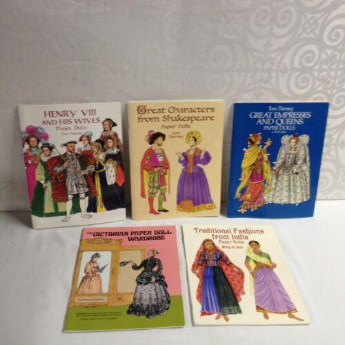Lot of 5 -Paper Dolls -Victorian, Empresses & Queens, Shakespeare + more - UNCUT