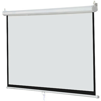 Matte White 100 169 Projection Projector Screen Home Movie Manual Pull Down