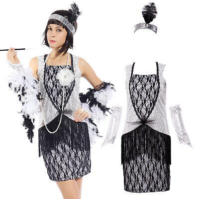 tsby Flapper Fransenkleid Kleid Tanzball Club Abendkleider (Gatsby Kleider Kostüme)