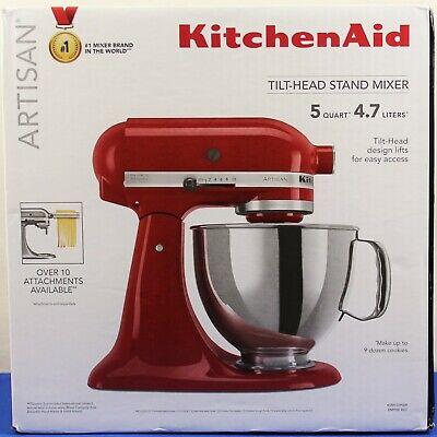 KitchenAid KSM150PSER Artisan Tilt-Head Stand Mixer w/Pouring Shield 5Qt RED NEW