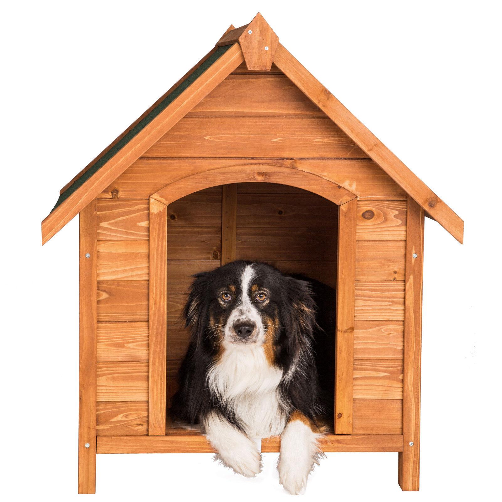 niche villa pour chiens xxl en bois massif chenil maison chien toit inclin eur 59 90. Black Bedroom Furniture Sets. Home Design Ideas