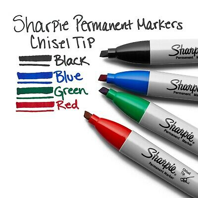 Lot Of 24 - Sharpie Chisel Tip Permanent Markers