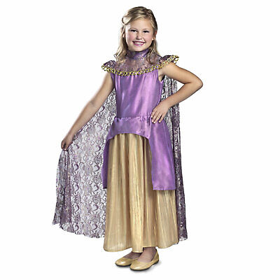 Child Girls Magnus Queen Daphne Once Upon A Time Halloween Costume Dress Cape