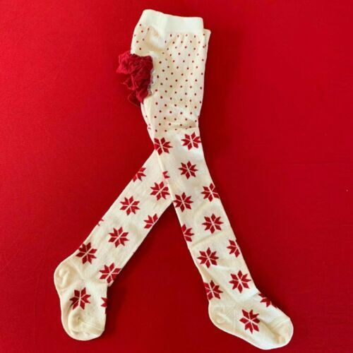 """Hanna Andersson Adorable Baby Girls """"RUFFLE"""" Tights. 18-24 Months, 80 cm. Comfy!"""