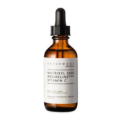 MATRIXYL 3000™ ARGIRELINE™ peptide Vitamin C Serum w/Organic Hyaluronic Acid 2oz