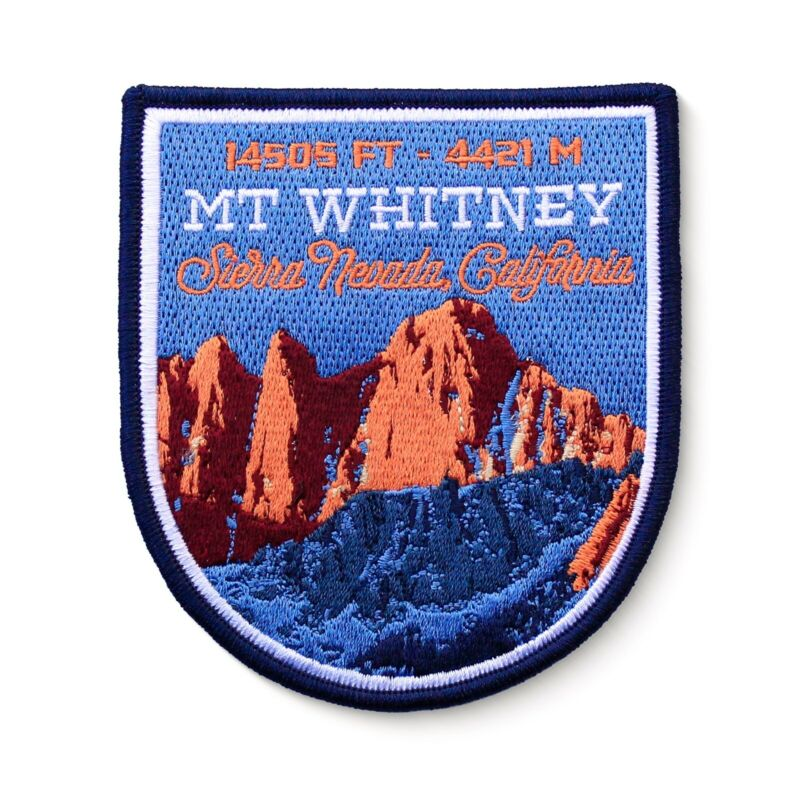 Mt. Whitney Sierra Nevada California Embroidered Iron-on Patch