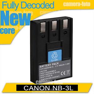 New Battery for Canon NB-3L IXUS I5/IXUS700/IXUS750 PowerShot SD10 SD20