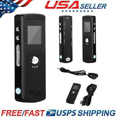 Voice Activated Mini Spy 8GB Digital Sound Audio Recorder Dictaphone MP3 LK