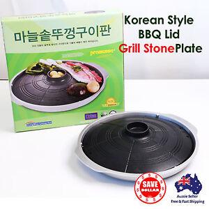 Portable Korean BBQ Grill Plate Pan Butane Gas Stove Stone Coated Non Stick