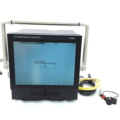 Eurotherm Chessell 5180v Video Graphics Recorder W Carrying Case Powers On