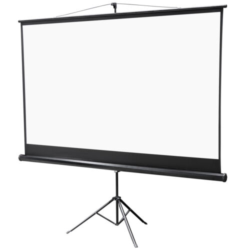 """Projector Screen with Stand,Indoor Outdoor PVC Projection Screen HD 100"""" 16:9 Consumer Electronics"""