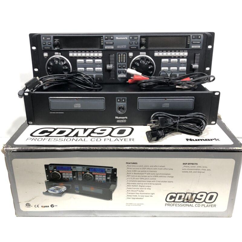 2004 NumarkCDN-90 Professional Pro CD Player Dual Rackmount BOX WEAR