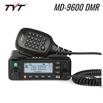 TYT MD-9600 DMR Dual Band V/UHF 50W 3000CH TDMA LCD Car Mobile Radio Transceiver (W3000 Lcd)