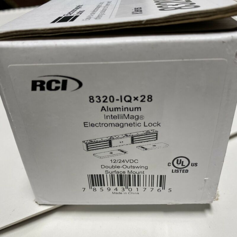 RCI Rutherford INTELIMAG 8320IQ 28 Double Electromagnetic Mag Lock 1200 lbs