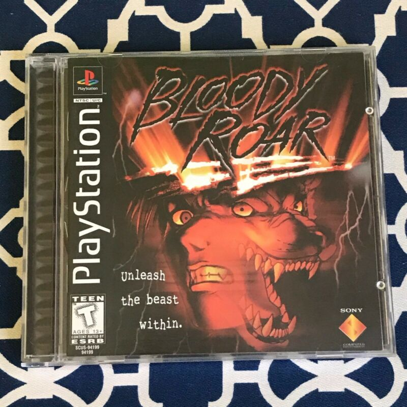 Bloody Roar Case and Manual ONLY for PlayStation (PS1) *NO DISC* Original