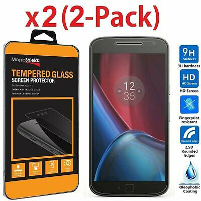 2PACK Tempered Glass Screen Protector Film for Motorola Moto G4 Plus Cell Phone Accessories