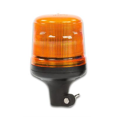 LED-MARTIN Rundumleuchte SESTO - 11 Blitzmuster - gelb - DIN-Aufnahme - 12V 24V.