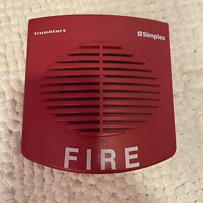 Simplex Tyco Fire Alarm Horn Truealert Red Horn 4901-9820 Free Shipping