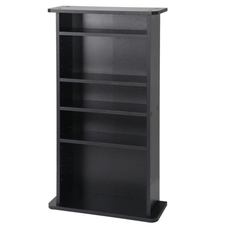 Multimedia Storage Cabinet DVD Rack Book Shelf Organizer Stand Media Indoor