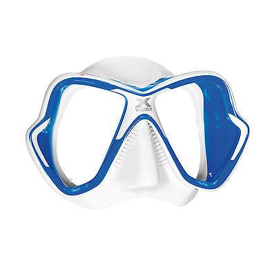 e3907729c9 Mares X-Vision Ultra Liquidskin Scuba Diving Snorkeling Mask Blue White
