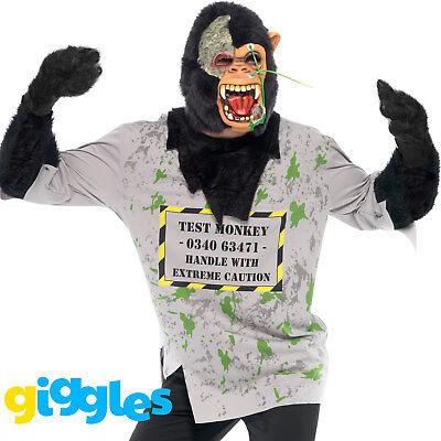 mbie Monkey Costume Halloween Lab Chimp Scary Fancy Dress (Halloween-lab)