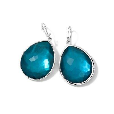 IPPOLITA 925 Wonderland Large Teardrop Earrings in Malibu & Mother of Pearl $550
