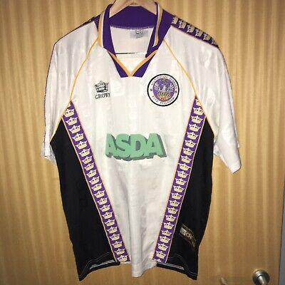 Accrington Stanley Away Shirt 1998-1999 Asda Crown Size 46-48 XL Great Condition image