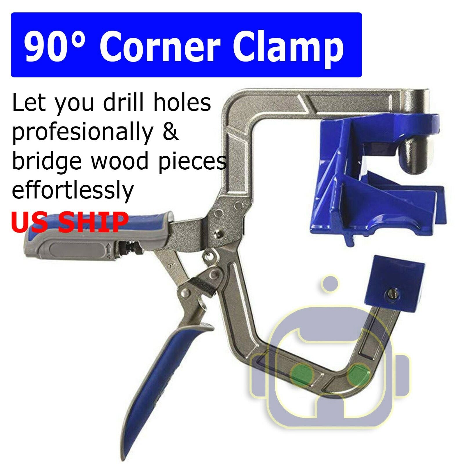 US Woodworking Corner Clamp for Kreg Jigs and 90° Corner Jo
