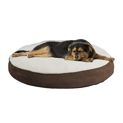 Large Round 42 Inch Pet Dog Bed Memory Foam Pillow Top Reversible 5 Inch High - Memory Foam Round Dog Bed