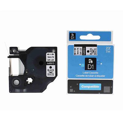 Us Stock 1pk 9mm X7m 40913 Black On White Label Tape For Dymo D1 38 X 23 St