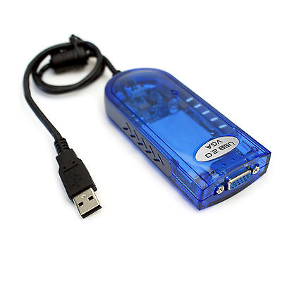 USB to VGA Extended Display Graphics Card Converter Adapter - Second PC Monitor
