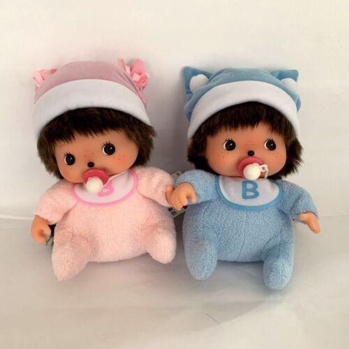 "Lot of 2 Sekiguchi Bebichhichi Medium 8""  Baby Girl and Baby Boy Pink and Blue"