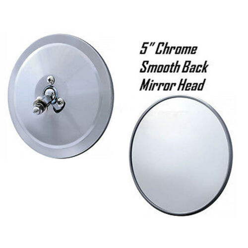 "5"" Chrome Smooth Exterior Door Round Rear View Mirror Head 1947-1972 Chevy Truck"