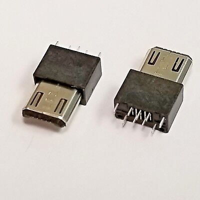 Micro Usb Type-b Male 5pin Wire Solder Plug Connector - 210 Or 100