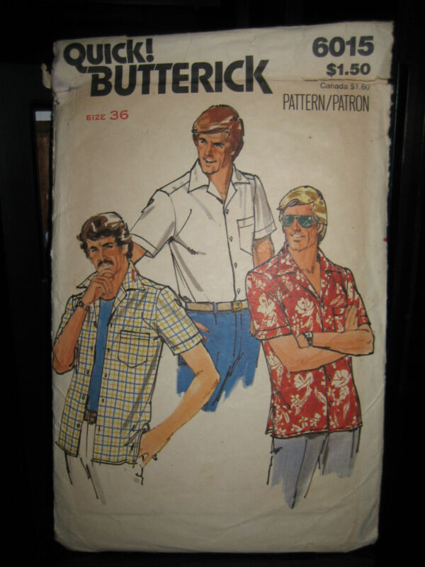Vintage Butterick #6015 Men