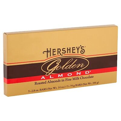 (Hershey's Golden Almond Gift Box 2.8oz bars-5 bars/ box)