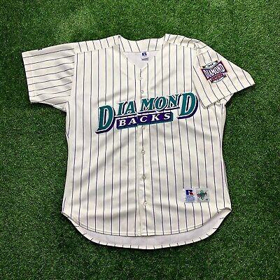 Vintage 90s Arizona Diamondbacks Jersey Diamond Collection Purple and Teal sz 48