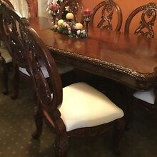 Wooden dining table with 8 chairs Glenwood Blacktown Area Preview