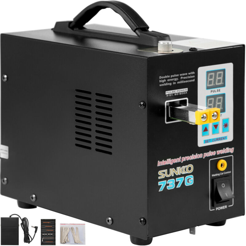 737G Pulse Spot Welder Welding Soldering Machine 18650 Battery Packs 110V 1.5KW