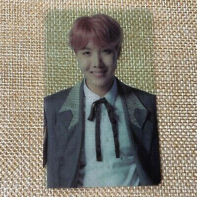 BTS J-HOPE / Wings Concert Official Army Booth Transparent Photocard /New/ +GFT