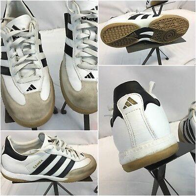 26e6be171 Adidas Samba Soccer Shoes Sz 8 Men White Black Stripe EUC YGI F8