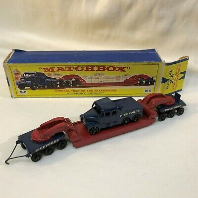 Matchbox Major Pack  M-6-A  Pickfords 200-Ton Tractor and Transporter - w/ E box