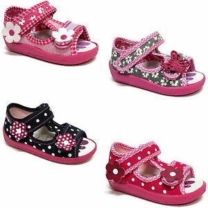 Girls-sandals-canvas-shoes-slippers-trainers-size-3-9-UK-baby-toddler-new
