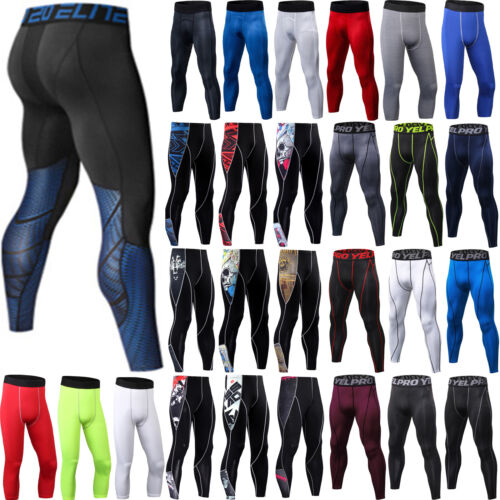 Herren Compression Baselayer Legging Stretchhose Sport Fitnesshose Trainingshose